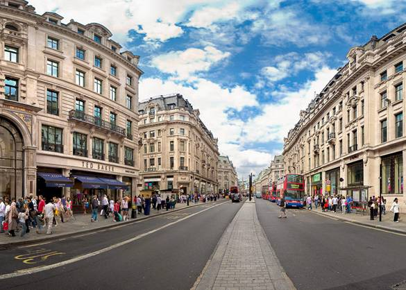 Bild der Oxford Street im Londoner West End