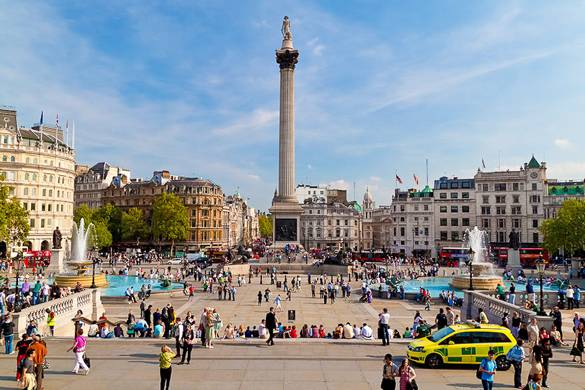 Foto des Trafalgar Square in London