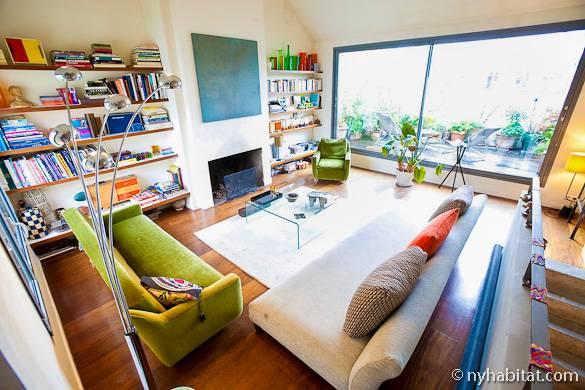Foto vom Wohnzimmer einer Pariser Ferienwohnung