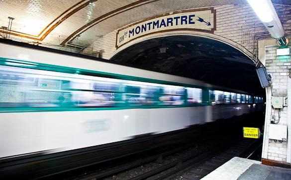 Foto der Pariser Metrostation Montmartre
