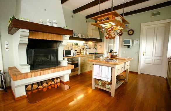 Bild einer traditionellen Küche