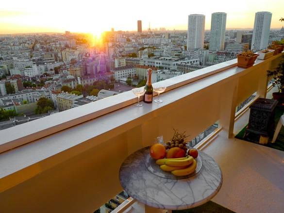 Bild von einem Sonnenuntergang in Paris, von Montparnasse aus gesehen