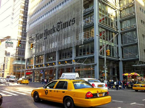 Bild des New York Times Buildings in Manhattan