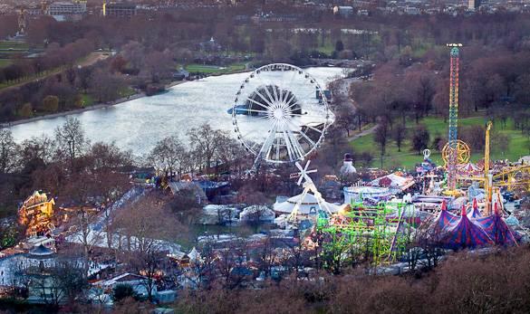 """Bild des """"Winter Wonderlands"""" im Hyde Park in London"""