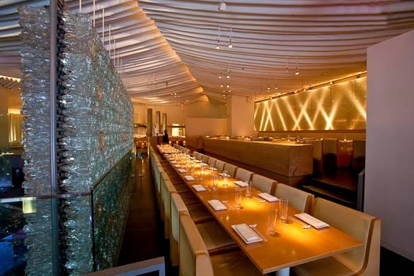 Foto vom Inneren des Restaurants Morimoto in Chelsea