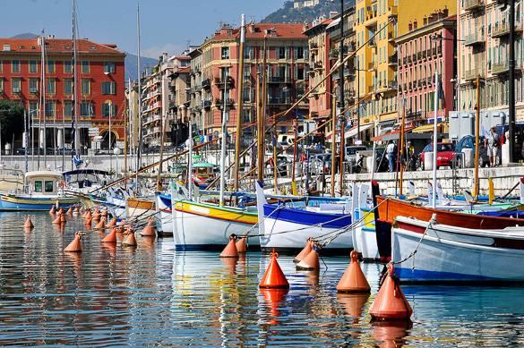 Bild vom Alten Hafen, Nizza