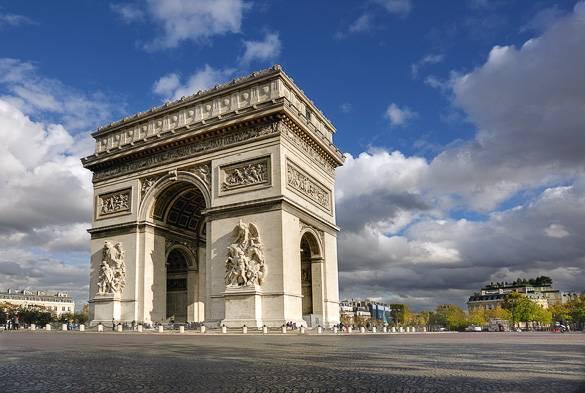 Foto vom Triumphbogen, Paris