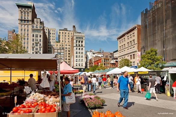 Bild des Union Square Greenmarket in Manhattan. Foto von Francois Roux.