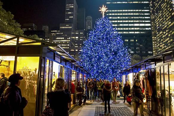 Bild von den Weihnachtsgeschäften in Manhattans Bryant Park