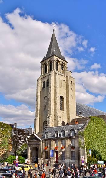 Fotografía de la Abadía de Saint-Germain-des-Prés en París.
