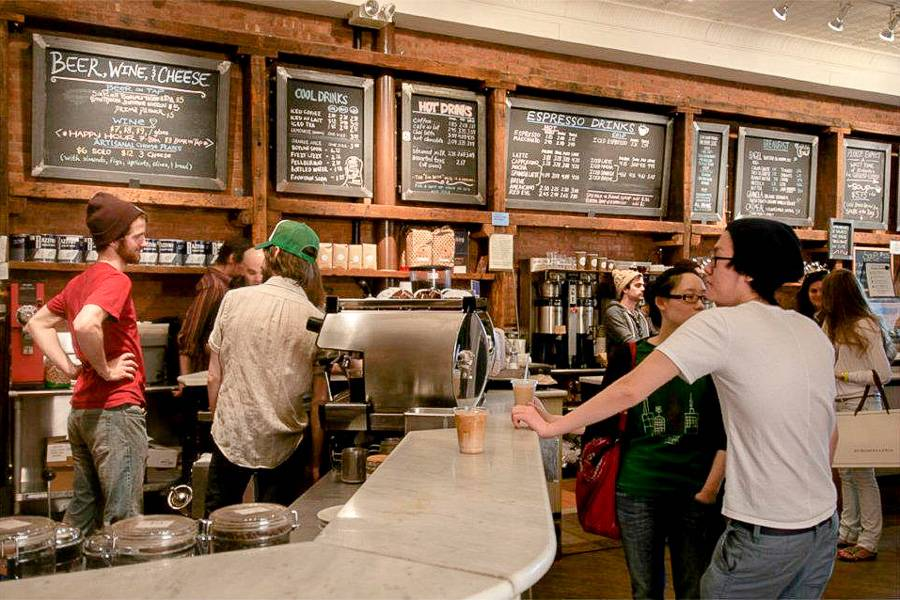 Bild des Manhattaner Coffee Shops Think