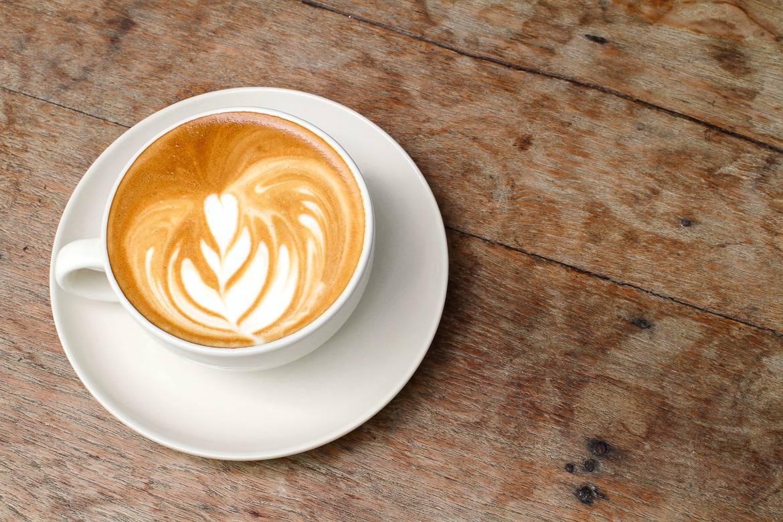 Bild einer New Yorker Tasse Cappuccino