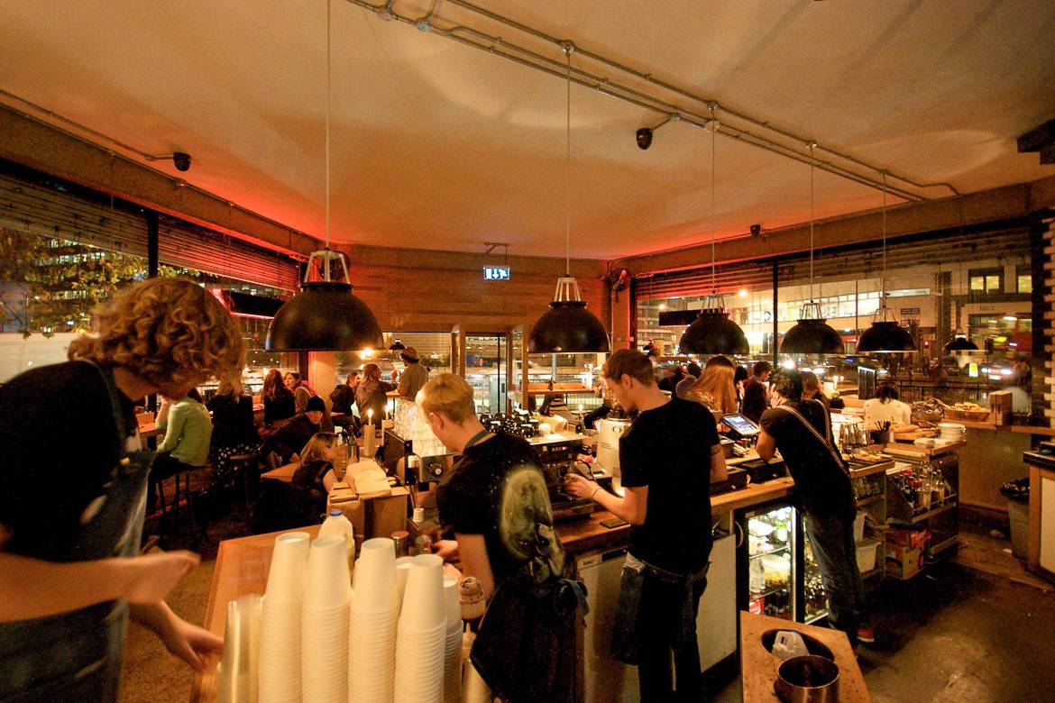 Bild des Londoner Coffeeshops The Shoreditch Grind