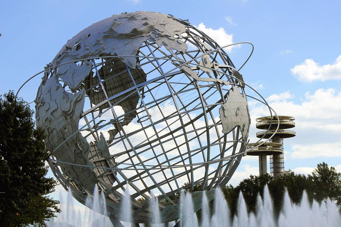 Foto vom Flushing Meadows-Corona Park und der Unisphere in Queens