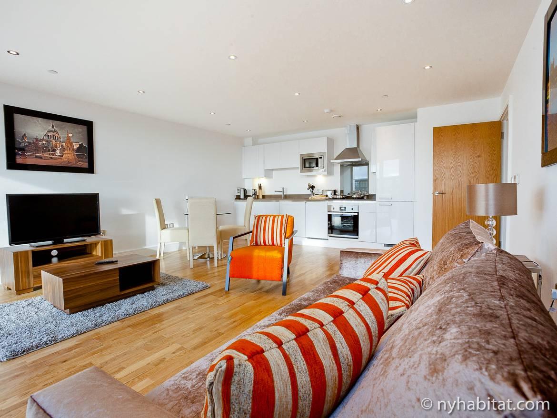 Foto einer Luxuswohnung in Greenwich im Großraum London.