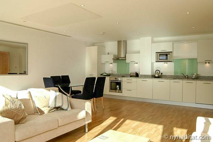 Foto einer modernen Wohnung in Vauxhall in London