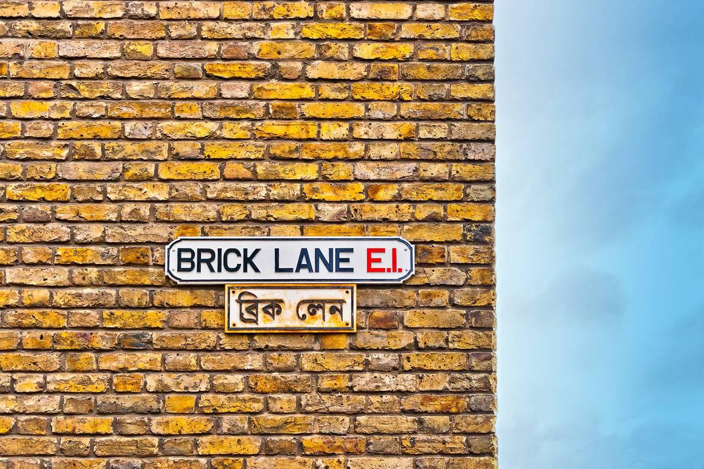 Tolles Essen und Kunst auf der Brick Lane in London