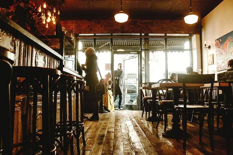 Bild eines Cafés