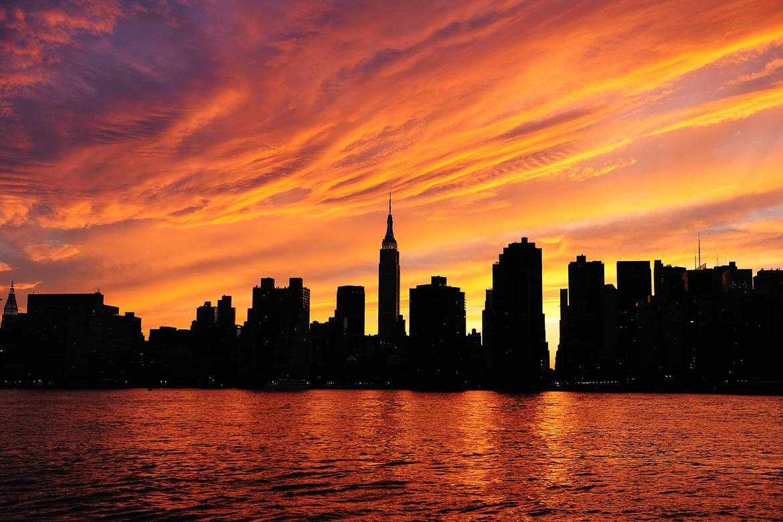 Foto von Midtown East bei Sonnenuntergang