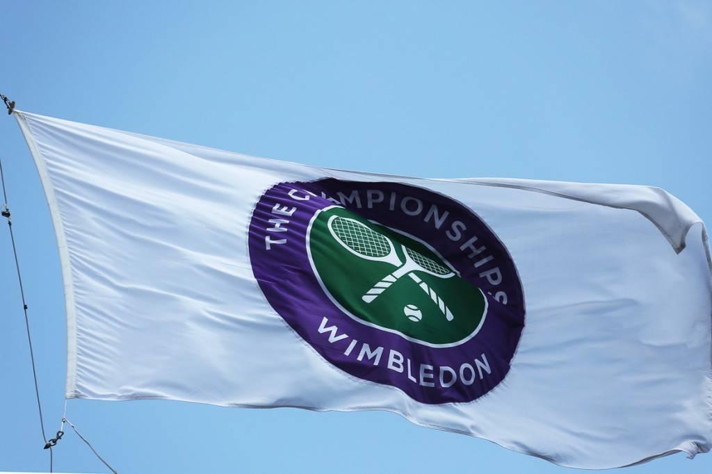 Bild der Wimbledon-Flagge