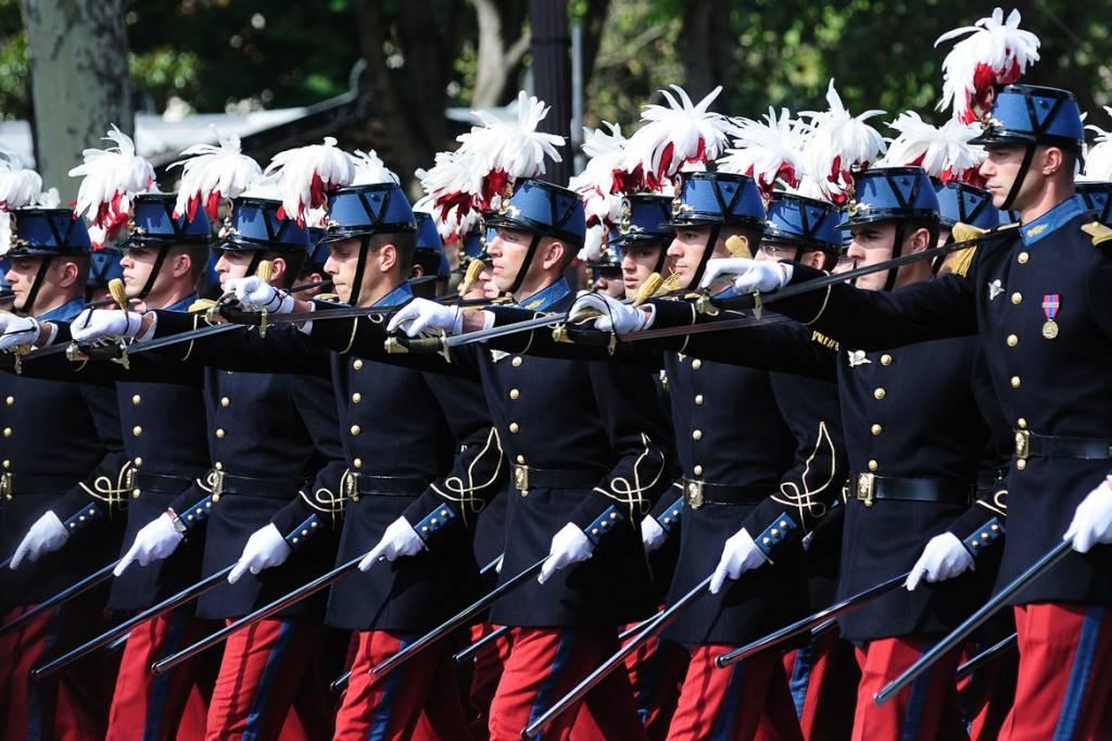 Bild von der Militärparade