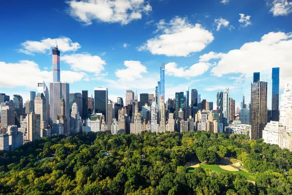 Bild des Central Parks, Manhattan, von oben fotografiert