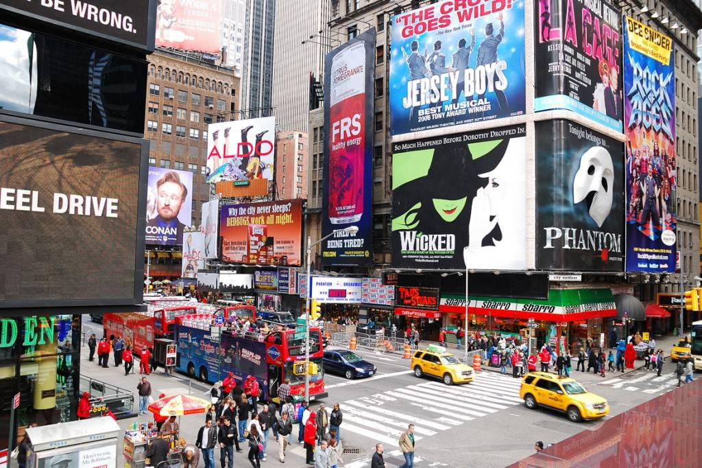 Bild des Broadway am Times Square