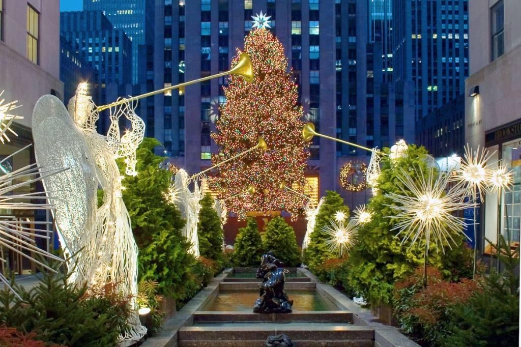 Bild des Rockefeller-Center-Baumes
