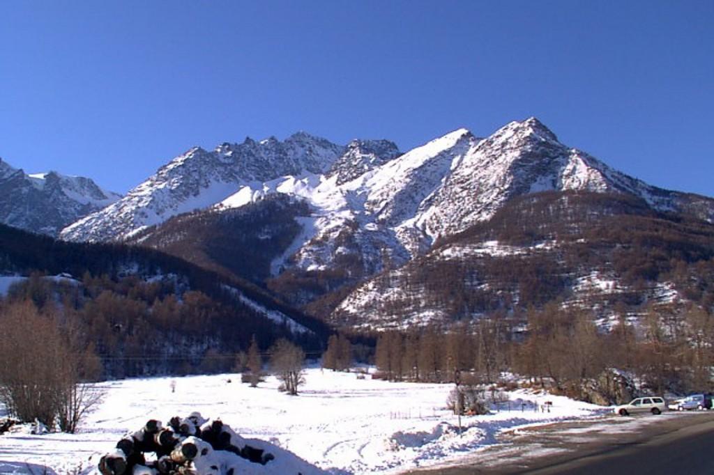 Bild eines Berges in den französischen Alpen