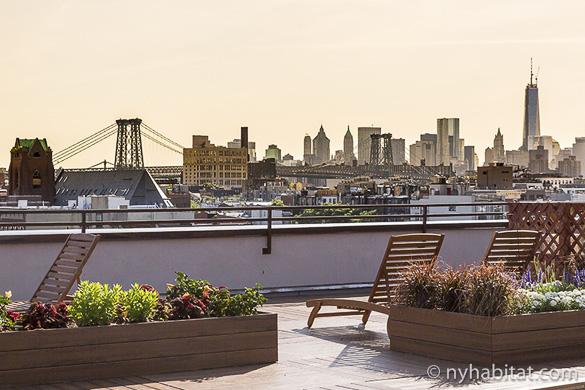 Bild der Dachterrasse der Studiowohnung NY-16669