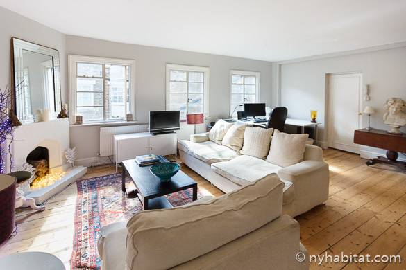 Bild des Wohnzimmers der möblierten Mietwohnung LN-777