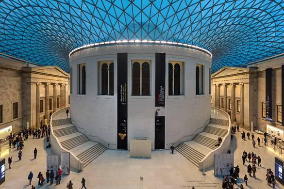 Bild des Atriums im British Museum.