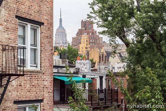 Bild der Aussicht auf das Empire State Building in der Wohnung NY-16306