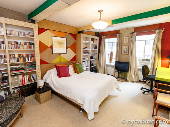 Bild des Schlafzimmers der 2-Zimmer-WG NY-16071.