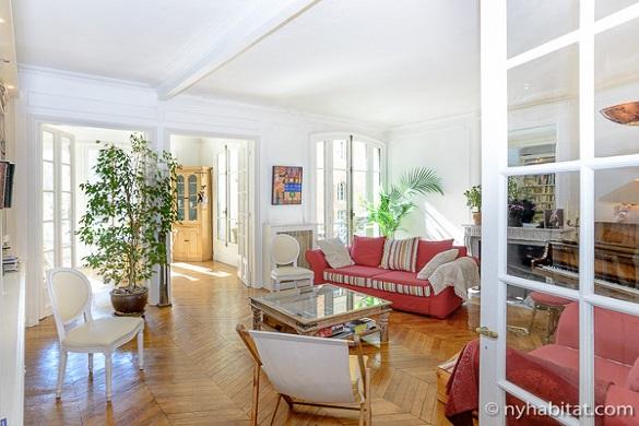 Bild des Wohnzimmers der Wohnung PA-1331 in Paris