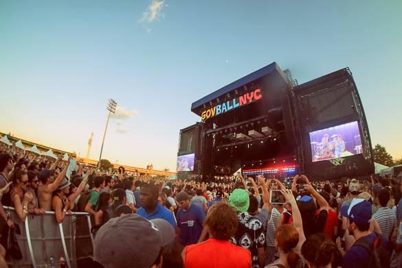 Bild der Menschenmenge beim Governor's Ball-Musikfestival