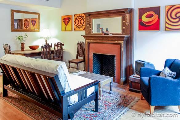 Bild eines Wohnzimmers einer Ferienwohnung NY-14482 in Hamilton Heights