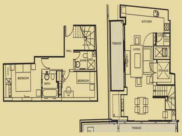 London 2 Bedroom apartment - apartment layout  (LN-659)