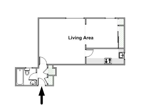 London 1 Bedroom apartment - apartment layout  (LN-1496)
