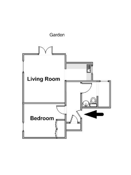 London 1 Bedroom apartment - apartment layout  (LN-1695)