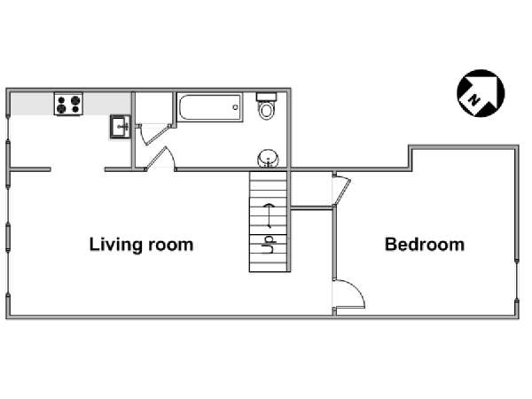 London 1 Bedroom apartment - apartment layout  (LN-1906)