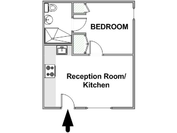 London 1 Bedroom apartment - apartment layout  (LN-2006)