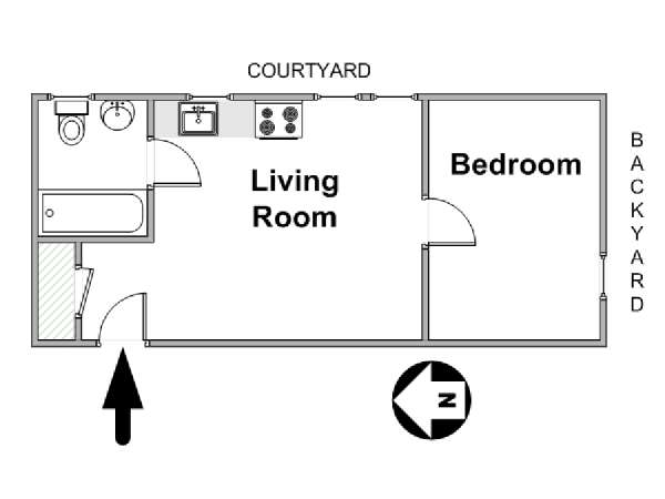 New York T2 logement location appartement - plan schématique  (NY-10192)