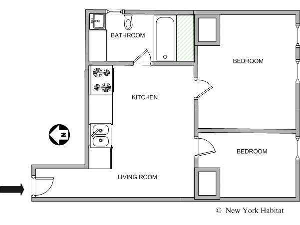 New York T3 logement location appartement - plan schématique  (NY-10262)