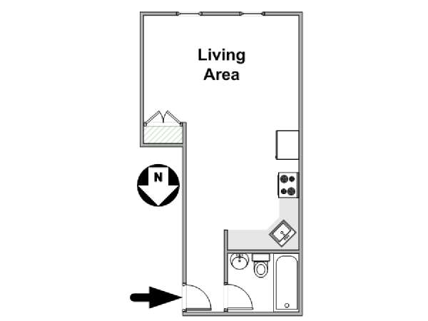 New York Alcove Studio apartment - apartment layout  (NY-10672)