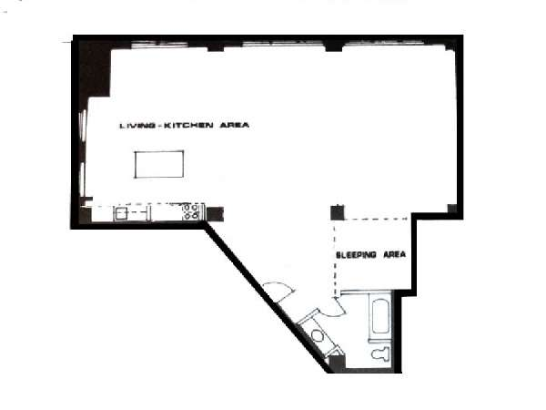 New york apartment alcove studio loft apartment rental in for Studio loft apartment floor plans