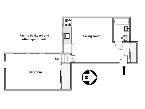 New York 1 Bedroom apartment - apartment layout  (NY-11928)