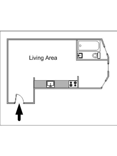 New York Studio accommodation - apartment layout  (NY-11971)