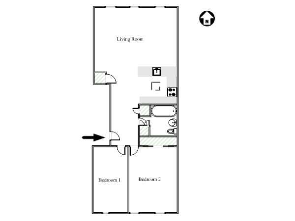 New York 2 Bedroom apartment - apartment layout  (NY-12770)
