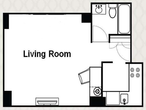New York Studio apartment - apartment layout  (NY-14513)